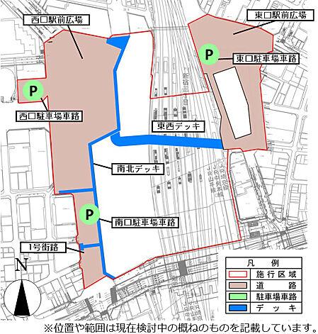 土地区画整理事業 整備概要図